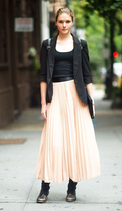 chic new york skirts blazers and flowy skirt