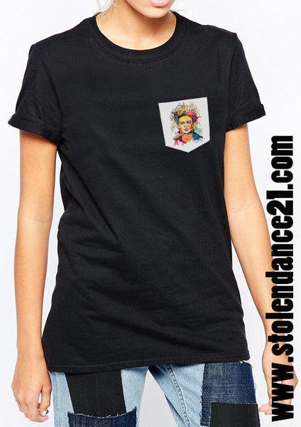 Frida Kahlo Real Pocket Tee Crew Neck Top T shirt code50800