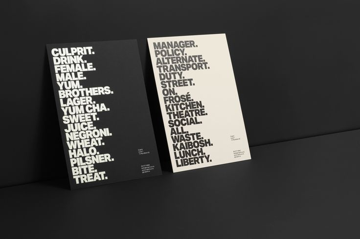 Branding and poster design by Studio South for Auckland bar and restaurant Culprit