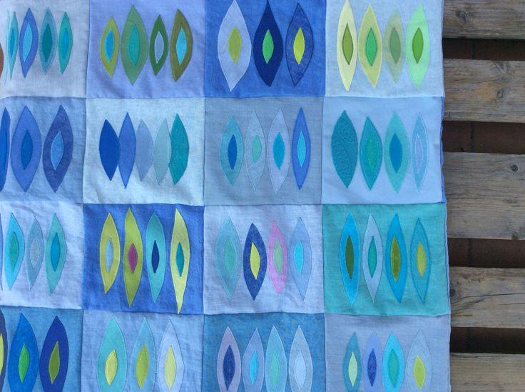 -Wasserquilt - Sabine Reese, April 2016 - 1,30m x1,90m