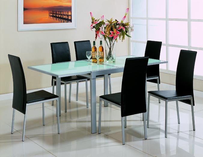 Contemporary Silver Dinette Set