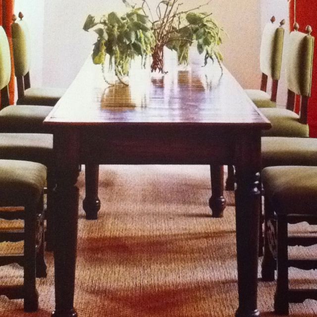 Furniture Long Narrow Dining Table Made Of Oak Wood In: 1000+ Images About Narrow Dining Table On Pinterest