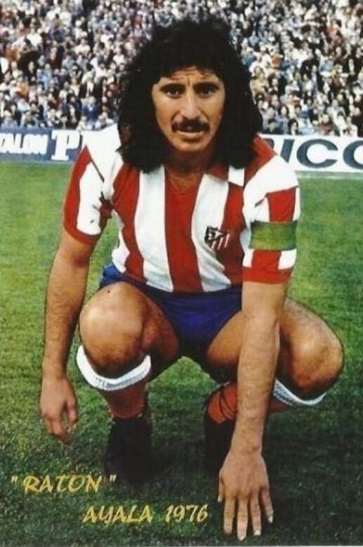 Rubén Ayala con Atlético de Madrid  1974