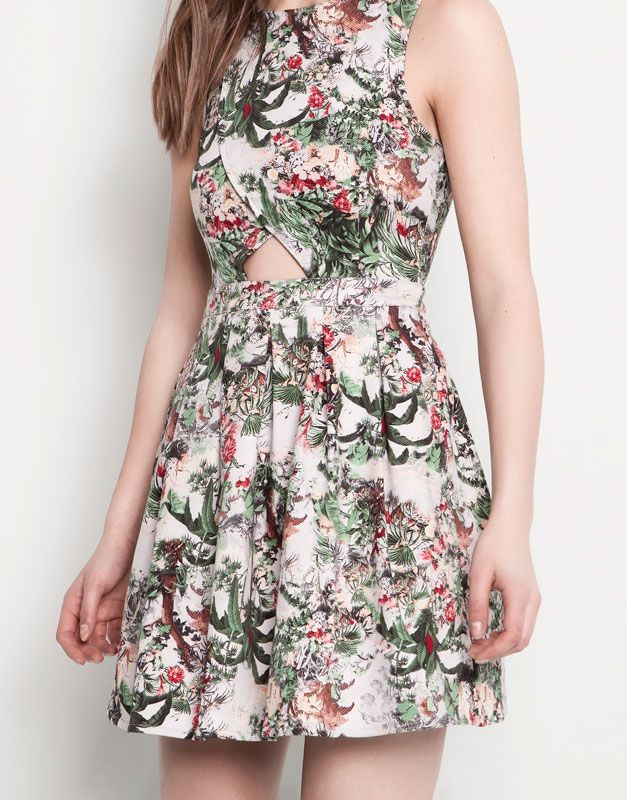 :PRINT WRAPOVER DRESS