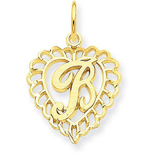 JewelrySuperMart Collection Sterling Silver Textured Cursive Script Initial Pendant