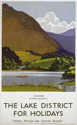Lake District - Grasmere by National Railway Museum - art print from King & McGaw