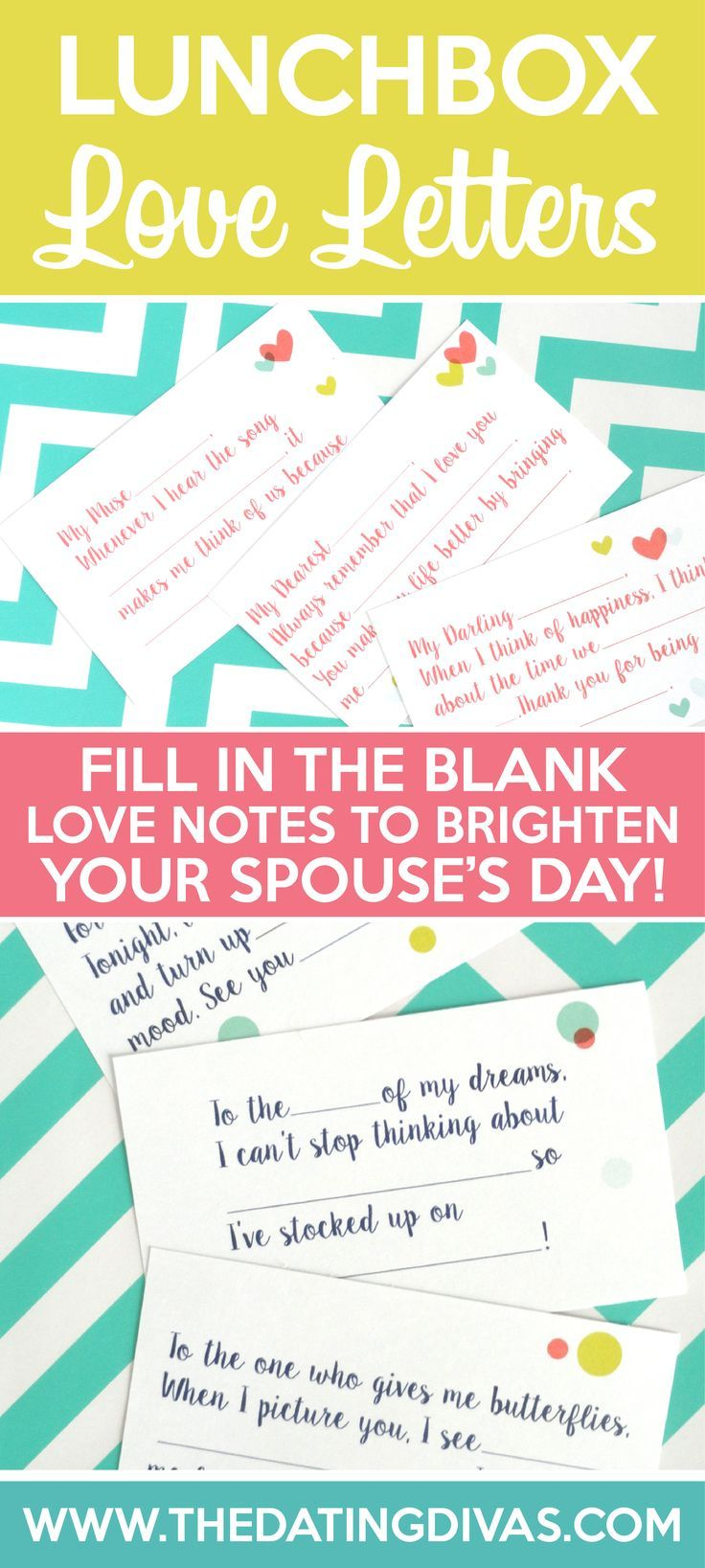 A cute, quick and EASY idea for lunchbox notes to remind your spouse how much you love him! www.TheDatingDivas.com: