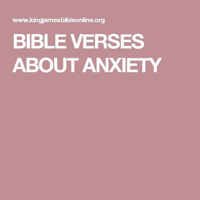 Bible Quotes About Anxiety And Stress