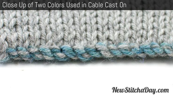 Knitting Cast On Techniques : How to cast on in two colors for double knitting or color