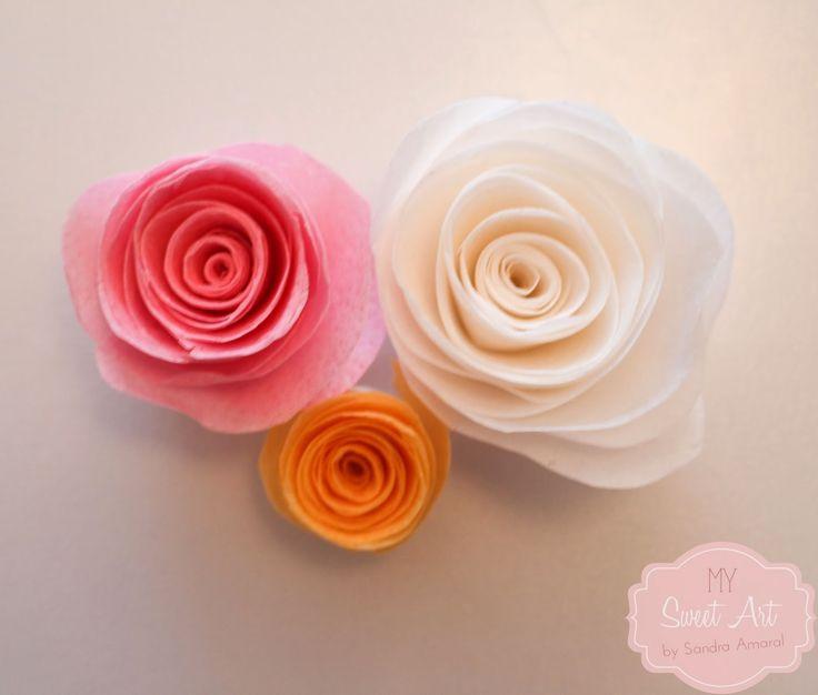 My Sweet Art: Tutorial flor em papel de arroz/oblea