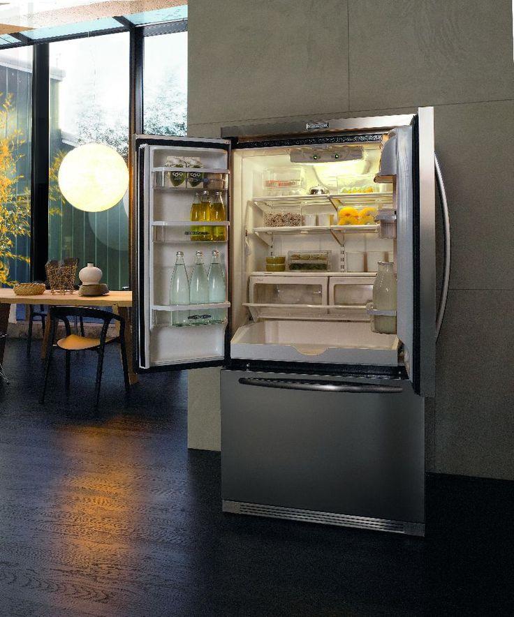 KitchenAid Amerikaanse 3-deurs koelkast - De beste keuken ideeën #koelkast #kitchenaid