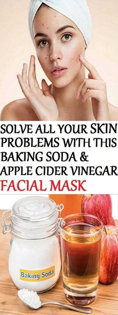 Solve All Your Skin Problems With This Baking Soda And Apple Cider Vinegar Mask!
