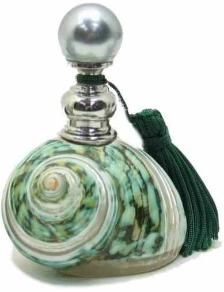 Antique seashell perfume bottle (from Unique Shoppes)