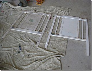 Before and After: Headboard using old crib parts. Perfect way to transform your guest room or master bedroom.