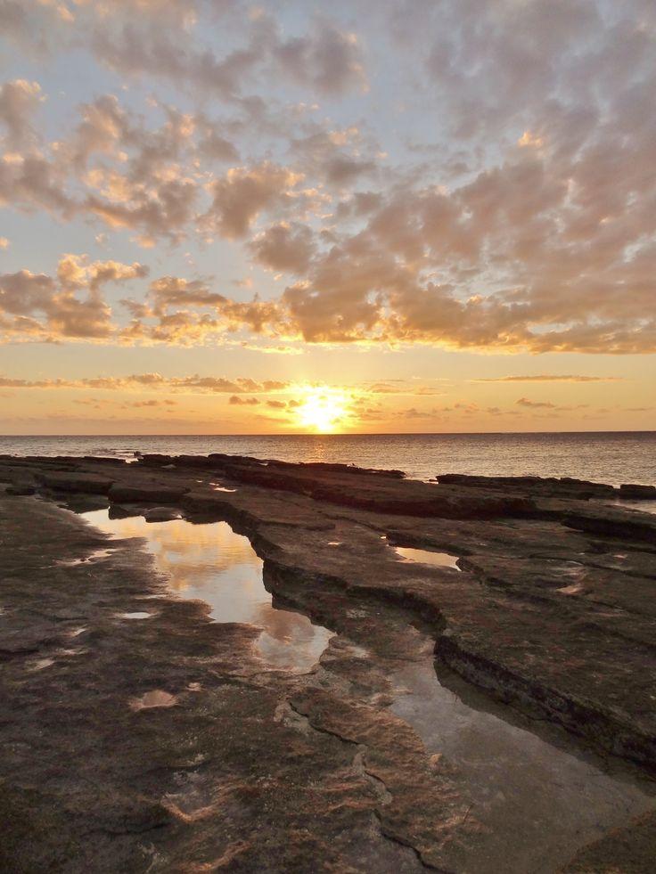 Sunset on Mana Island, Fiji - by Jon Reid