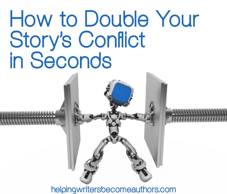 If a little of the right kind of conflict is good for your story, then how much fun can you get out of doubling your story's conflict? The answer: oodles.
