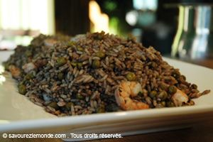 Du Riz Djon Djon...  Typical Haitian recipe rice..., I learn how to make it and my oh my... delish!