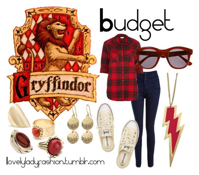 Gryffindor on a Budget by sad-samantha on Polyvore featuring polyvore, fashion, style, River Island, Converse, Amrita Singh, MANGO, Wallis, Kenneth Cole and clothing