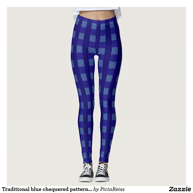Traditional blue chequered pattern, buffalo worker