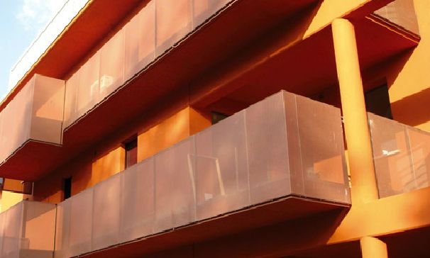 Tôle perforée / métal déployé / acier / de façade - DIAMOND: R 16 - Italfim