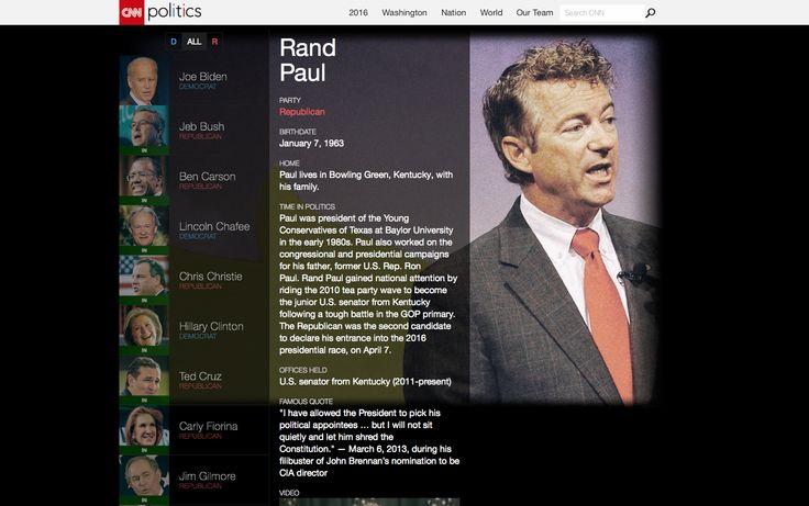 http://www.cnn.com/interactive/2015/05/politics/2016-election-candidates - Interactive biographies, visual design