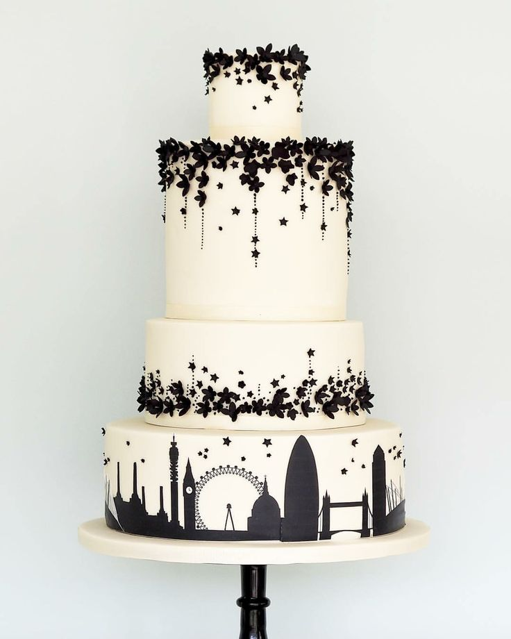 Cake 1525 best Black and White Cakes