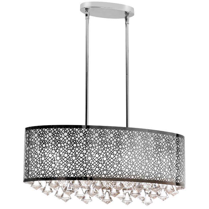70 best contemporary modern island chandeliers images on dainolite lighting 6 light oval crystal island light polished chrome you can get additional details at the image link mozeypictures Gallery