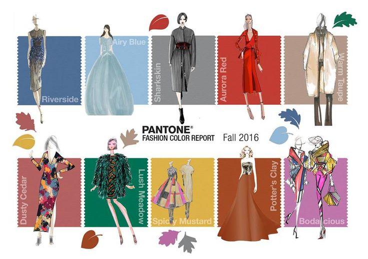 I colori pantone per l'autunno 2016!