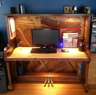 piano converted to desk | Foster Piano Technology - Foster Piano Home