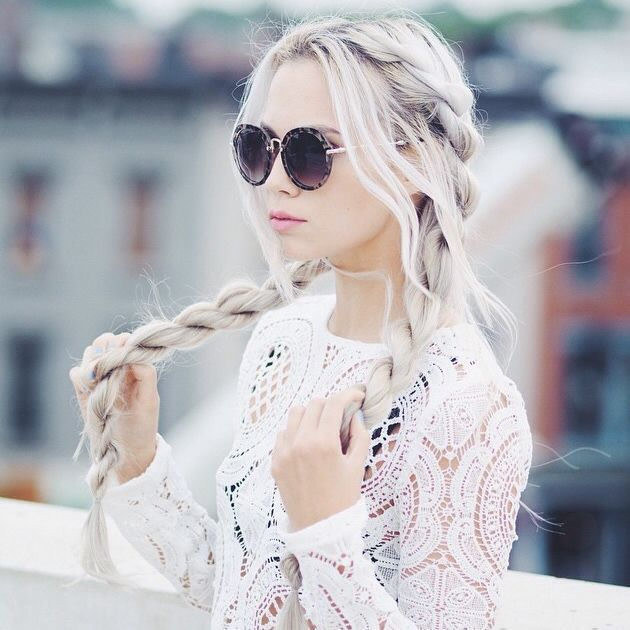10 vlechten in de kleuren van de 2016; wit, blond, zilver en platina! - Kapsels voor haar