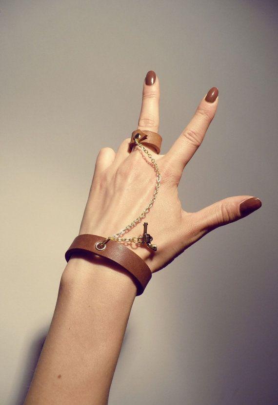 Leather Bracelet Handmade by tjbotique on Etsy, $55.99