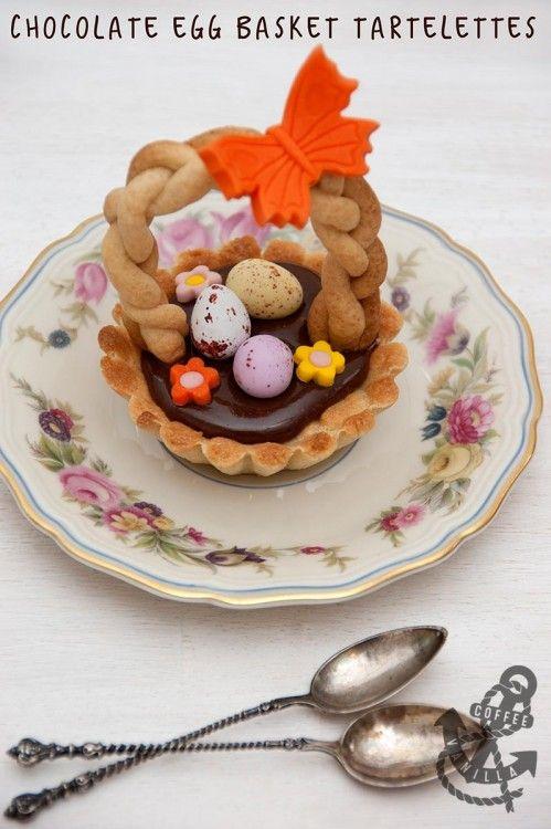 Chocolate Egg Basket Tartelettes for Spring & Easter Holidays