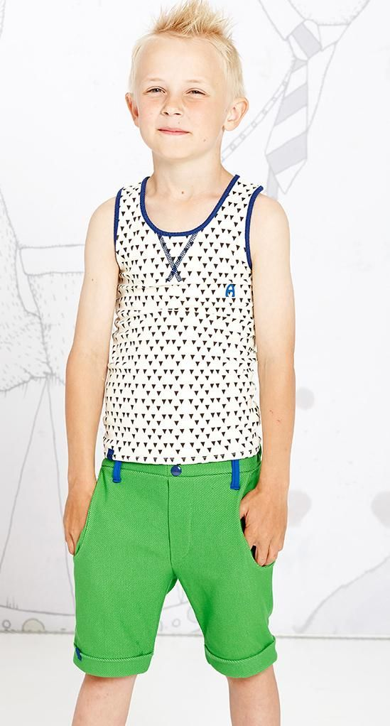 AlbaBaby Emil tank top - Brown/blue Retro Baby Clothes ...