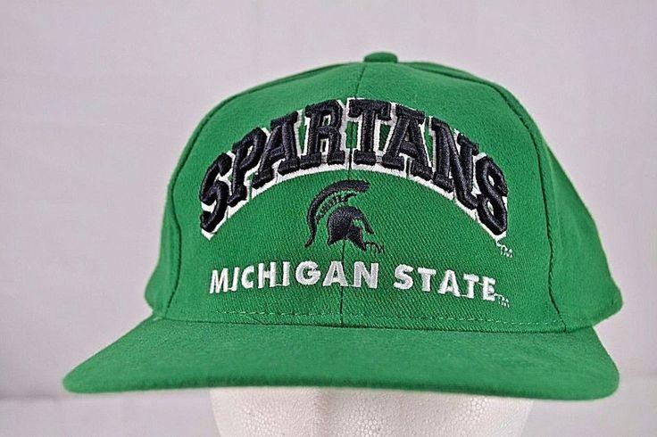 Michigan State Spartans Green Baseball Cap Snapback #SSSuperSport #BaseballCap