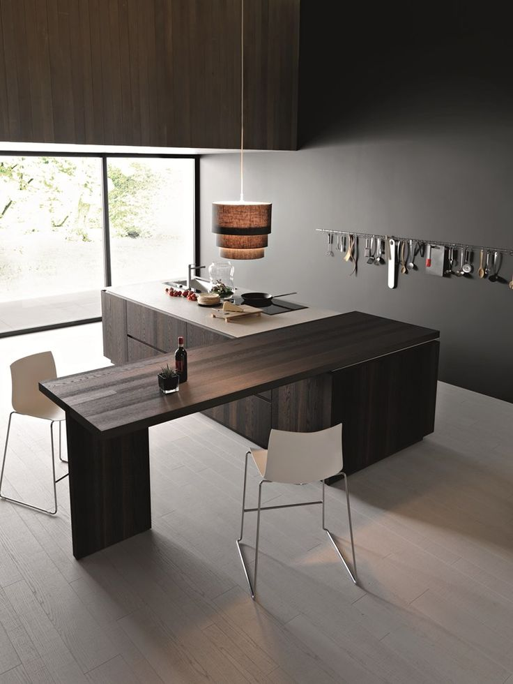 Wooden Kitchen With Island ELLE   COMPOSITION 2 By Cesar Arredamenti
