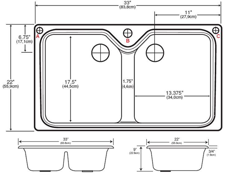 Dimensions Of Double Kitchen Sink Novocom Top