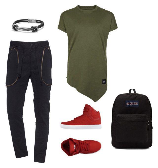 """shopping"" by luziagalvang on Polyvore featuring Faith Connexion, Topman, Supra, David Yurman, JanSport, men's fashion y menswear"