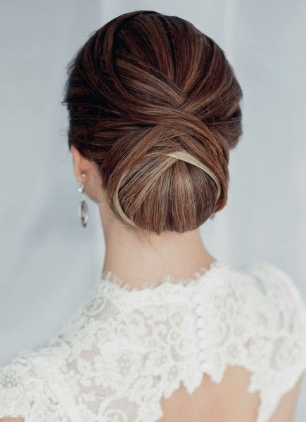 Layered Twist - 30 Most-Pinned Beautiful Bridal Updos - Livingly