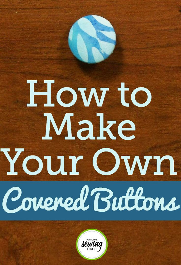 When making covered buttons you will first need to get a kit for making the button. There are several different brands available and can usually be found at your local fabric or craft stores and even in the craft section of many big box stores. The kits for making covered buttons also come in a variety of sizes which you will want to choose depending on what you intend to use the button for.