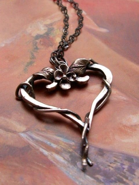 Necklace | Danielle from Aunali Artisan Metal.  Oxidized sterling silver.