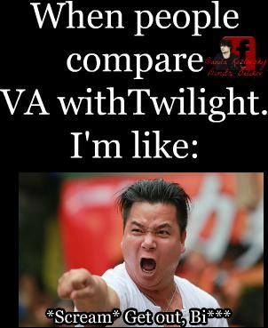 I love Twilight to but in no way are they the same