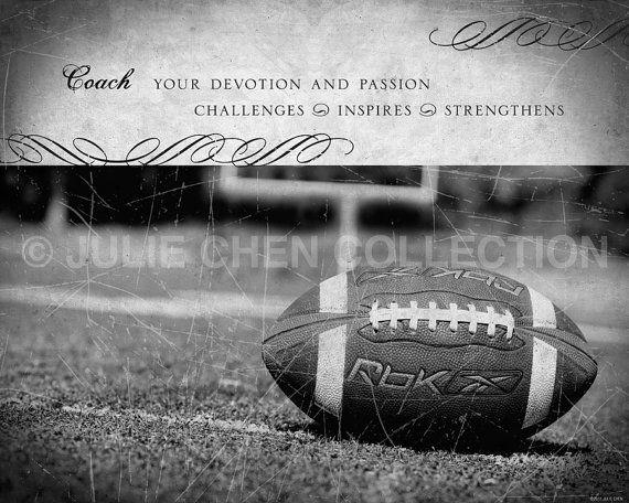 Football Coach Gift Football Coach Keepsake by LifeVerseDesign