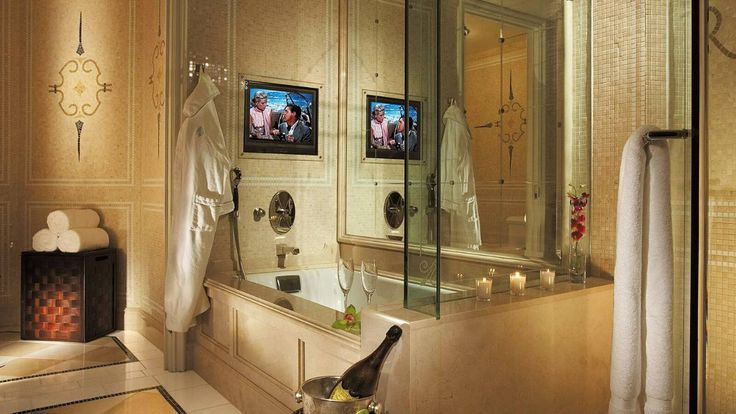 Four Seasons Hotel Los Angeles, Bathroom (they had me at marble bathrooms with separate steam shower and soaking tub)