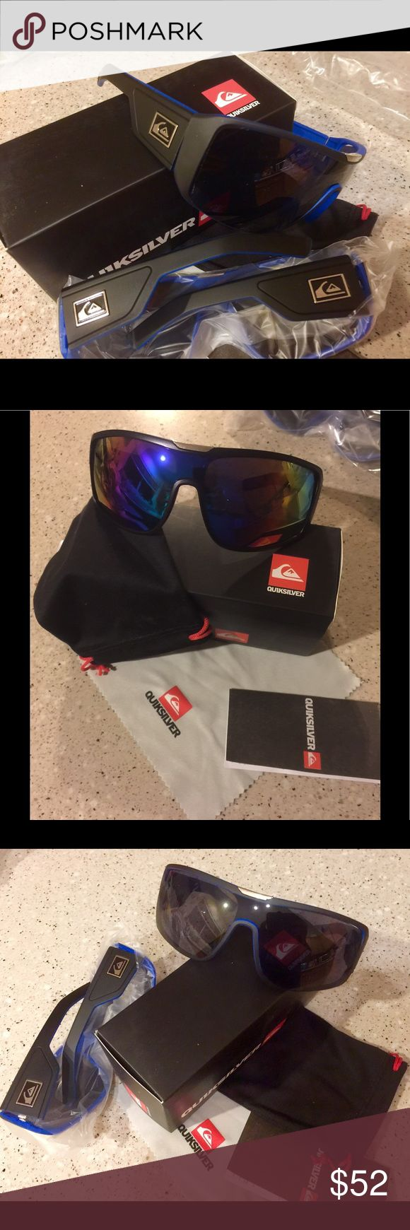 """New """"Solar"""" Watch and Quiksilver Sunglass Bundle This is an amazing Bundle!   New Quiksilver sunglasses in original box and soft case PLUS a Solar Powered watch!!   Price is firm. Discounts available with a bundle only.  LAST SILVER WATCH in stock! Quiksilver Accessories Sunglasses"""