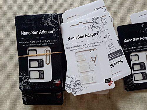 #Liroyal For #iPhone 4 5 Nano SIM Card Adapter + 1 Pin