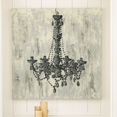 Chandelier Trois Hand Painted Canvas: Wall Art, Hand Painted Canvas, Chandeliers, Prudently Painted, Diy, Painting, Chandelier Trois, Ballard Design