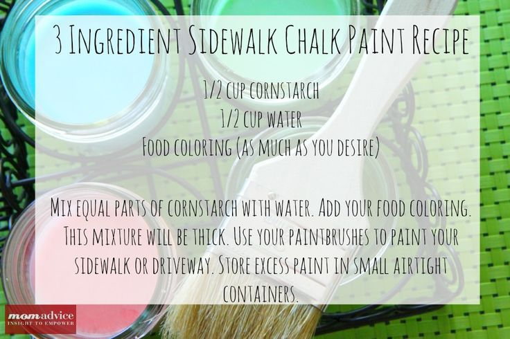 Make homemade sidewalk chalk paint and paint a picture.