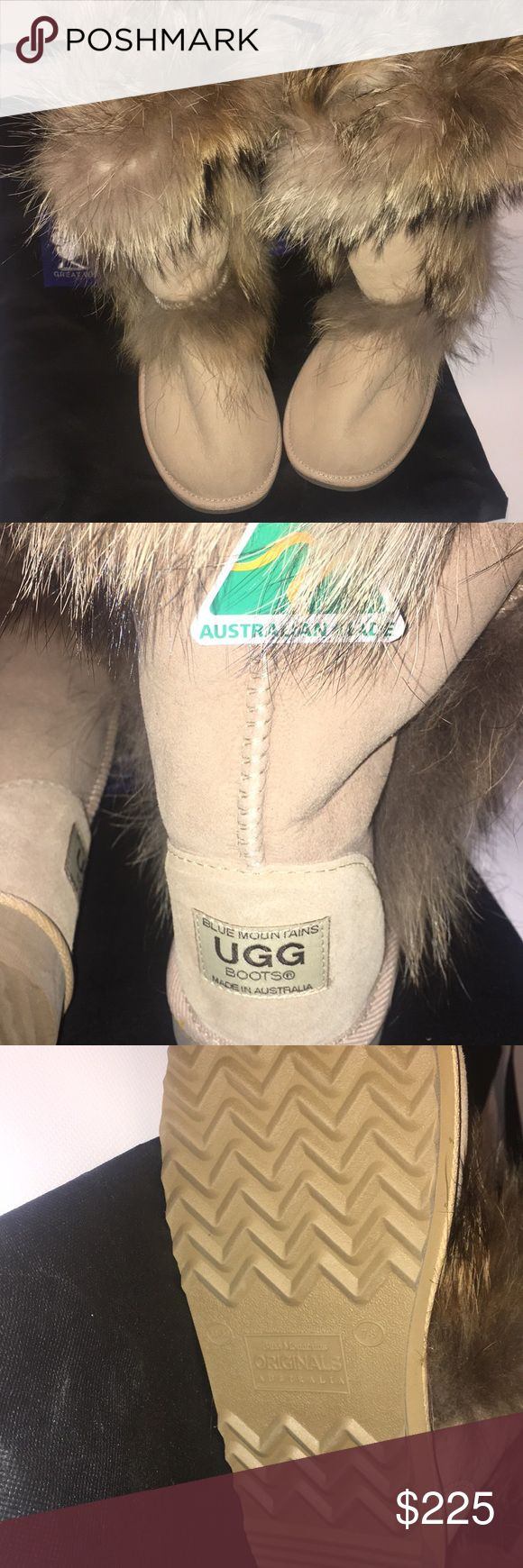 100% AUTHENTIC Ugg Boots W/ REAL Fox Fur Lining 100% AUTHENTIC Ugg Boots W/ REAL Fox Fur Lining  There is NO BOX as these were bought DIRECTLY in Australia. 100% AUTHENTIC. BRAND NEW & NEVER WORN.   Serious Offers ONLY  Women's Size 8 UGG Shoes Winter & Rain Boots