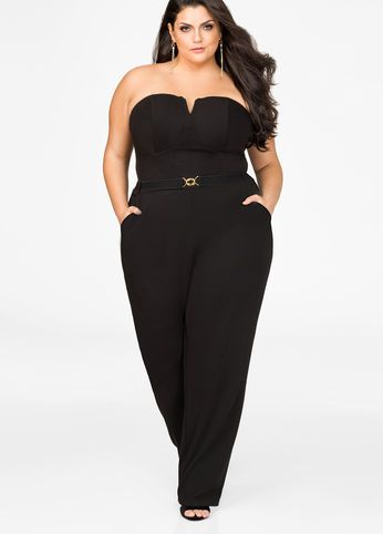 Strapless Straight Leg Jumpsuit