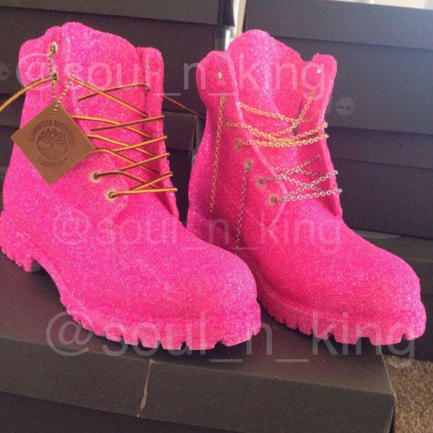 Barbie Pink Glitter Timberlands Home Base Pinterest